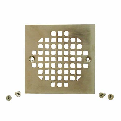 Plumbest C60-83BN Square Cast Brass Strainer, Brushed Nickel