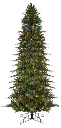 bethlehem lighting gki pre lit slim palisade artificial christmas tree with multicolored led lights