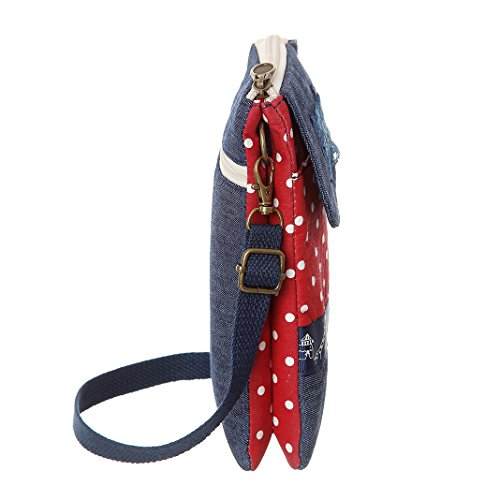 Bags AOCINA For Purse Cell Canvas Crossbody Cute Wallet Purse Red Phone Women Small TxSZRzT
