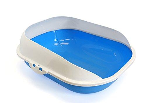 Fresh-Kitty-Large-Framed-Litter-Pan-Light-BlueMaroon