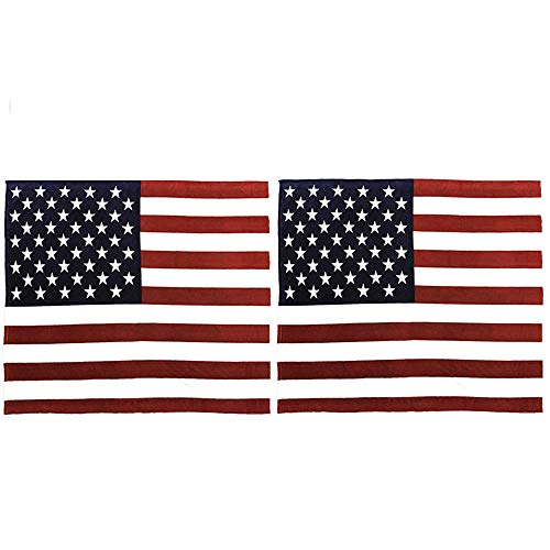 2 Packs American Flag Pillow Cover,Decorative Soft Pillows