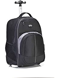 Compact Rolling Backpack for Business, College Student and Travel Commuter Wheeled Bag, Durable Material, Tablet Pocket, Removable Laptop Protective Sleeve for 16-Inch Laptop, Black (TSB750US)