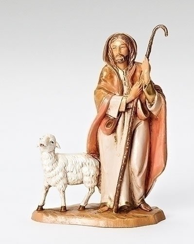 Good Shepherd Figurine - Fontanini The Good Shepherd with Sheep Italian Nativity Village Figurine