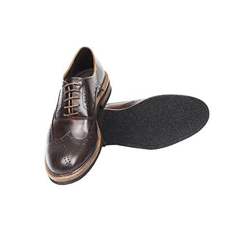 UominiItaliani - Mann elegante lederne Spitze Oben Schuhe Made in Italy - Mod. 1455 2355 Tan - Dunkelbraun - Nussbaum