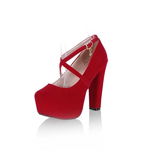 Rouge femme BalaMasa BalaMasa femme Escarpins pour Rouge Escarpins pour xgpFwz4xq