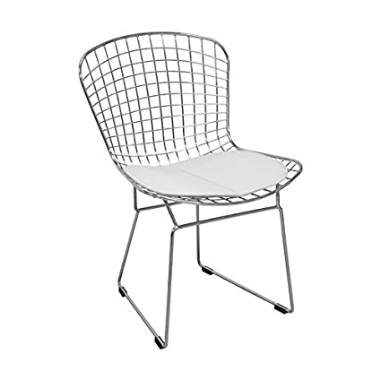 Attrayant Mod Made Mid Century Modern Chrome Wire Dining Side Chair For Dining Room  Kitchen Or Outdoor