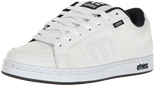 Etnies Mens Men's Kingpin Skate Shoe, White/Navy, 13 Medium US