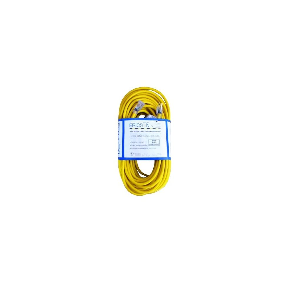 Heavy Duty Extension Cord 12/3 SJTW 15 amp 50