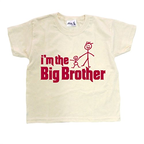 Dirty Fingers, I'm the Big Brother, Child's T-shirt, 7-8 years, (Natural Big Brother T-shirt)
