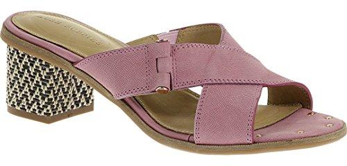 Hush Puppies Wren Ballard Womens Dress Sandals Rose Mist Leather