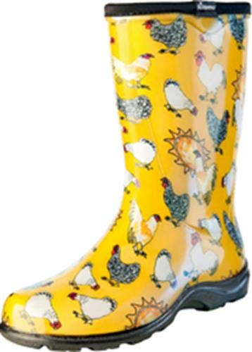 - Sloggers Women's Waterproof Rain and Garden Boot with Comfort Insole, Chickens Daffodil Yellow, Size 6, Style 5016CDY06