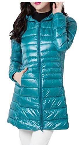 Lightweight Hooded Lake Packable Blue Jackets Down EKU Puffer Coats Women's qXwvIF17