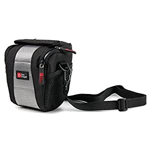 Cross-Body / Shoulder Bag in Shock-Absorbing, Water-Resistant Padded Nylon - Compatible with Spy Tec Mobius 2 | Mini | Standard | Wide Angle 1080p 60fps HD Mini Sports Action Camera - by DURAGADGET