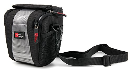 DURAGADGET Shock-Absorbing, Water-Resistant Case in Cross-Body / Shoulder Bag Style for MINIRIG Portable Rechargeable Speaker (with BONUS Cleaning Cloth)