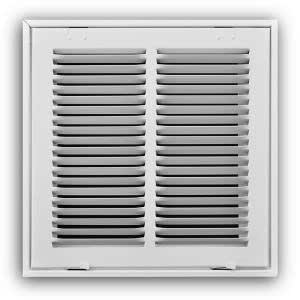 Truaire 24 In X 24 In White Return Air Filter Grille