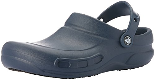 Crocs Men's and Women's Bistro Clog, Slip Resistant Comfort Slip On, Lightweight Nursing or Chef Shoe Navy, 9 US Women / 7 US Men
