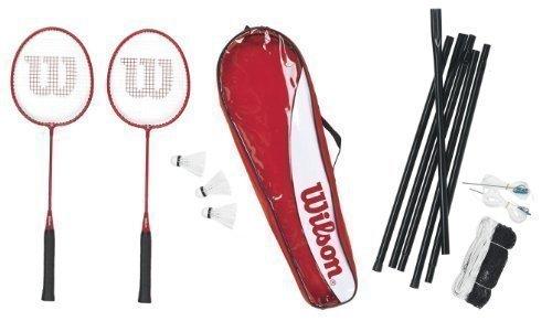 Wilson Tour 2 Racket Badminton Set with Net, Post & Shuttles RRP £80