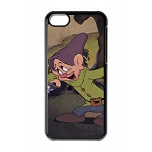 Personality customization TPU Case with Disney Snow White and the Seven Dwarfs Character Dopey iPhone 5c Cell Phone Case Black