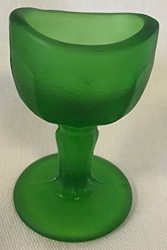 Eye Wash Cup Rinse - John Bull Style (Green Satin) - USA Glass by Rosso Glass