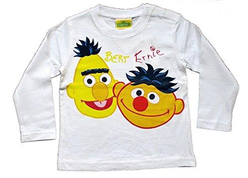 Babyshirt met lange mouwen voor jongens en meisjes, Sesamstraat Ernie & Bert (uniseks)
