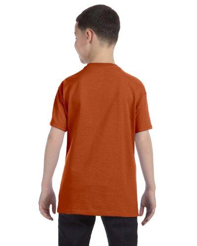 Jerzees Youth 5.6 oz., 50/50 Heavyweight Blend T-Shirt, XL, TEXAS ORANGE (Heavyweight Jerzees Youth Blend)