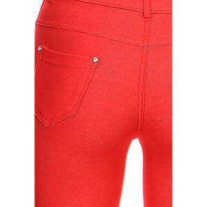 Yelete Women's Plus Size Capri Jegging/Legging. Red. NWT (2X)