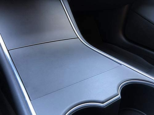 Covered in Graphics CIG New Tesla Model 3 Console Gloss White Wrap Vinyl Interior Center Console Cup Holder Kit Gloss White