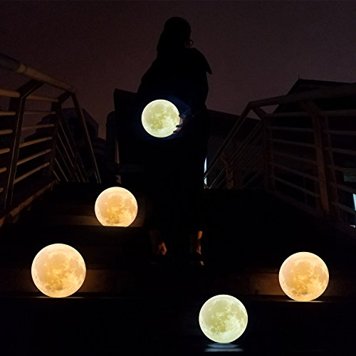 ... 7.1INCHS CPLA Lighting Night Light LED 3D Printing Moon Lamp, Lunar Lamp  Warm And ...