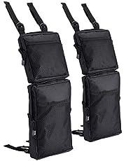 BTRLIACY ATV Fender Bag 2 Pack, ATV Tank Saddle bags, Universal Rear Storage Bag Waterproof Hanging Pouch Bag for ATV Dirt Bike