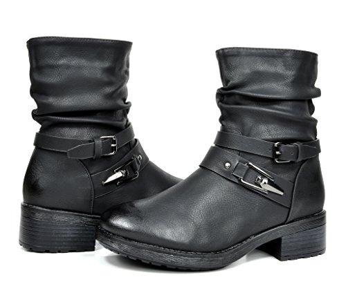 DREAM PAIRS PETTY Women's Fashion Fur Lining Mid-Calf Lady Riding Boots Black Size 11 (Go Go Boots Australia)