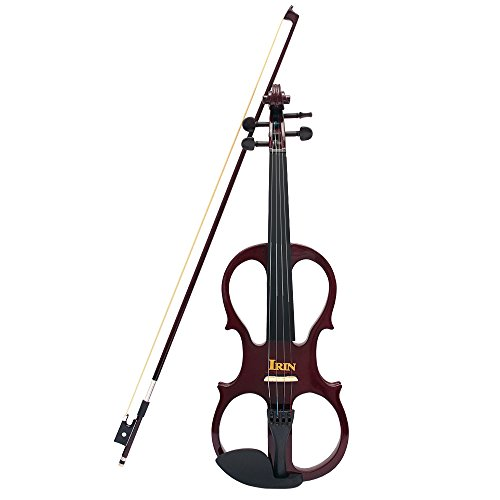 ammoon 4/4 Wood Maple Electric Violin Fiddle Stringed Instrument with Ebony Fittings Cable Headphone Case for Music Lovers Beginners by ammoon