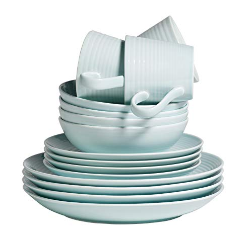 Light Blue Dinnerware - Royal Doulton 8575021736 Gordon Ramsay Maze Blue 16-Piece Set