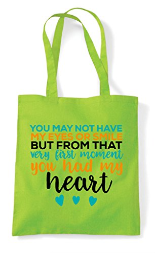 Not Tote May From But Have The Lime My Had Eyes You Start Adoption Shopper Heart Bag 5Fq7UwxUd