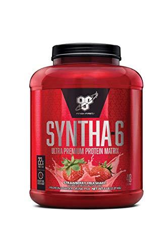 BSN SYNTHA-6 Protein Powder, Strawberry Milkshake, 5.0 Pound