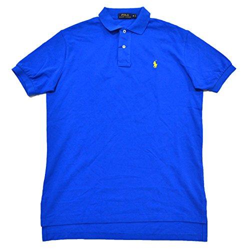 Polo Ralph Lauren Mens Classic Mesh Polo Shirt (Spa Royal Yellow Pony, Medium)