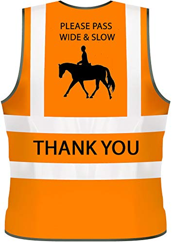Adult S 36//38, Yellow Hi Vis Viz High Visibility Reflective Vest Horse Riding Equestrian Safety Vest