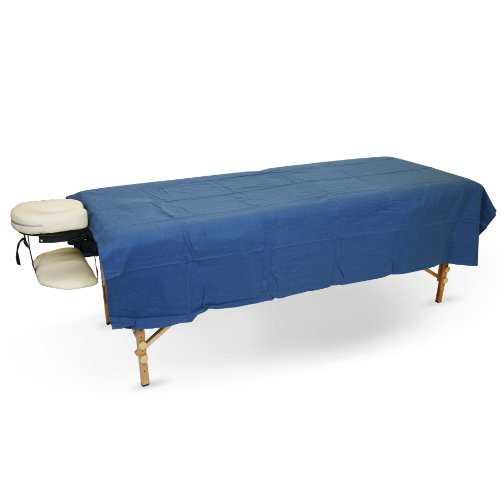 Flannel Flat Sheet for Massage Tables (Royal Blue, 20 Sheet Case) by BodyChoice
