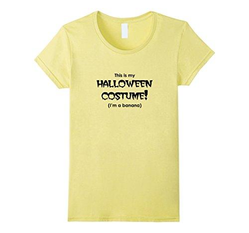 Womens Fun Halloween Shirt for Cheap Trick or Treat Costume XL Lemon