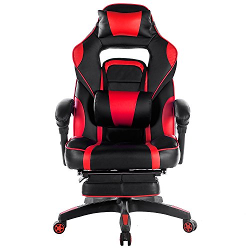 Merax Racing Office Chair Red And Black PU Leather Home Office Chair Computer