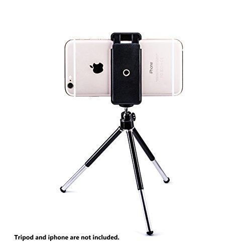 da utilizzare su selfie stick treppiede e tutti i telefoni compatibile con iPhone e pi/ù Zeadio universale supporto per smartphone treppiede adattatore monopiede treppiede da tavolo Samsung