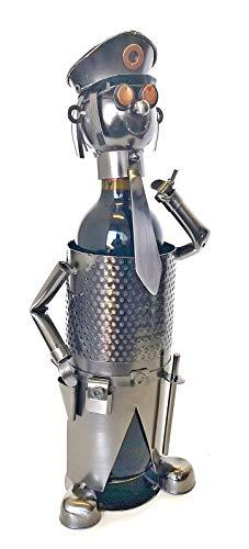 Bellaa 21619 Wine Holder Handmade Metal Cops