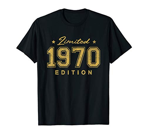 - 1970 Limited Edition 49th Happy Birthday T-Shirt