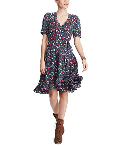 Ralph Lauren Sundress - Denim & Supply Ralph Lauren Women's Floral-Print Cotton Wrap Dress Betty Floral Large