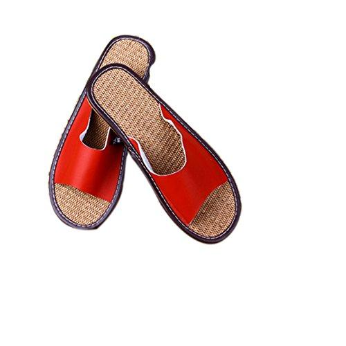 E Cotone Donna Legno Di Solid Pavimento Caldo Corallo Invernali In All'aperto Da Rosso Uomo Ispessimento Color Velluto Pantofole Tellw Pq8RwOTR