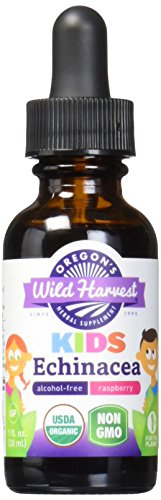 Oregon's Wild Harvest Children's Echinacea Raspberry Organic Herbal Supplement, 1 Fluid (1 Oz Oregons Wild Harvest)