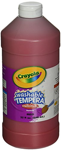 Crayola Washable Tempera Paint, Red Paint Craft Supplies, 32 -