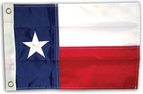 G Ganen 12x18 Inch Deluxe Motorcycle Boating Nylon Embroidered Texas State Flag