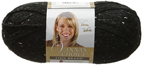 Lion Brand Yarn 860 406 Vannas Choice Yarn  Obsidian