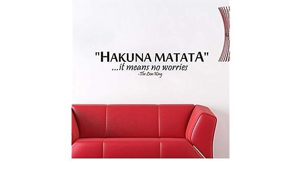pegatina de pared 3d El Rey León diciendo: Hakuna Matata Cita sin ...