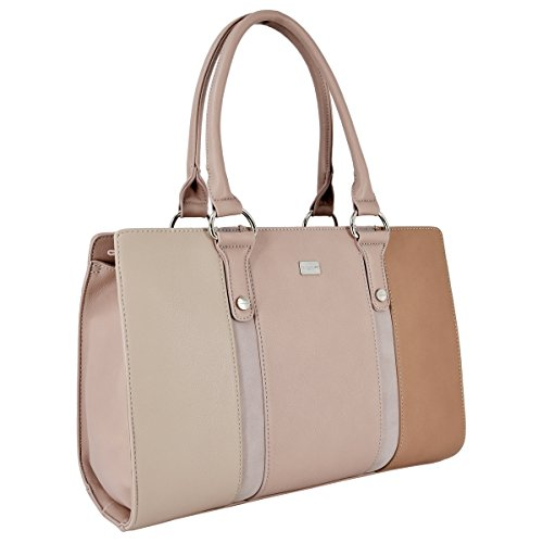 Handbag Shopper Bag Travel School Handles Handbags Handle Size Top Long Black Tote Pink Faux Ladies Leather David Rigid Large Women's Shoulder Messenger Briefcase Work Satchel Bag Jones OHZxB0g